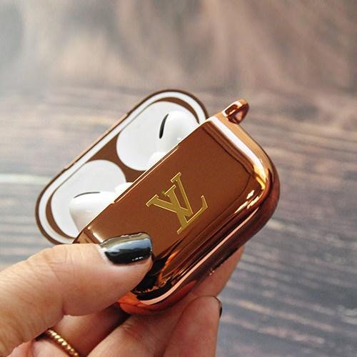PULU 에어팟 케이스 악세사리 세트 애플 프로 프리미엄, 로비통(골드)+로즈골드케이스, 골드 프리미엄 로고
