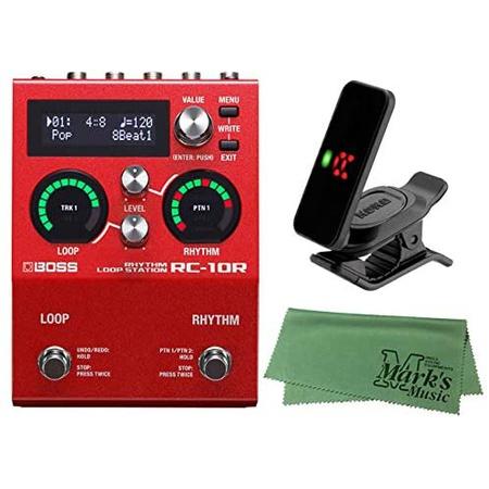 노 브랜드 제품 BOSS 보스 - 기타 이펙터 리듬 루프 스테이션 RC-10R + KORG Pitchclip 2 PC-2 + 마크 원, One Color