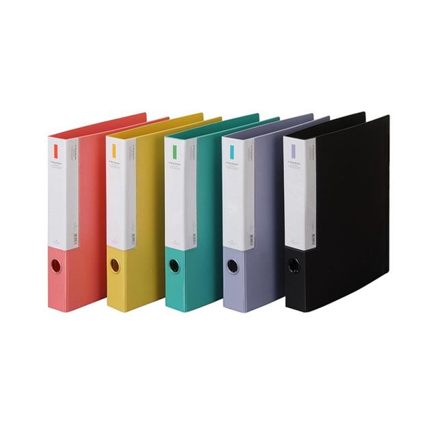 ksw15749 PP 매뉴얼 D링 바인더(3공) x 40개_수용량 300매 A4 사이즈 사이드 포켓 설치 편리한 서류 분류 kx504 정리, 청색, 1개