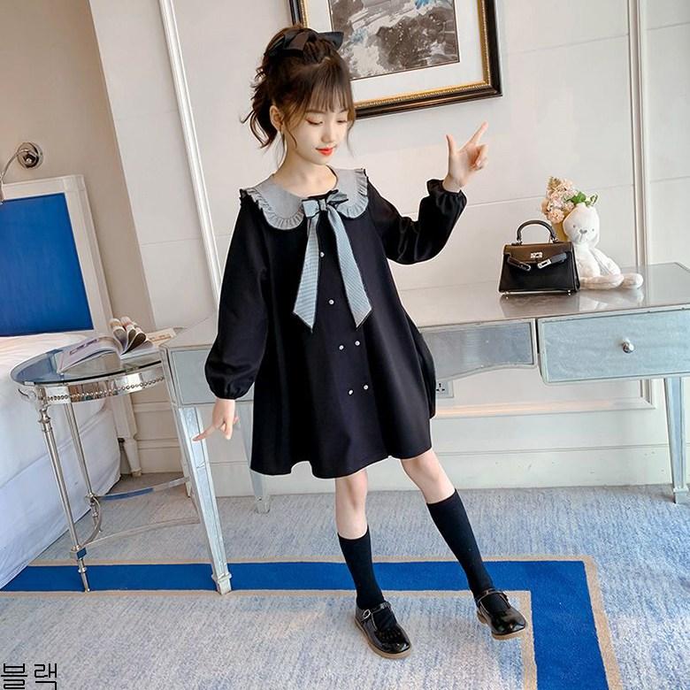 굿데이 컴퍼니 봄 가을 추천 여아 아동 셔링 예쁜 북유럽 원피스 가을옷 fTQ14