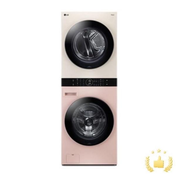 LG전자 워시타워 오브제컬렉션 W16PE [세탁기24KG+건조기16KG/드럼-핑크 건조기-베이지]