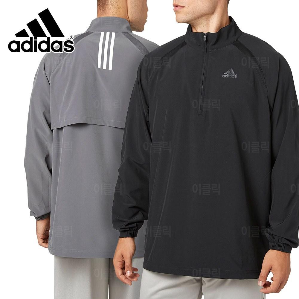 아디다스 트리플 스트라이프 베이스볼 아노락 바람막이 남자 우븐 긴팔 간절기 반집업 자켓