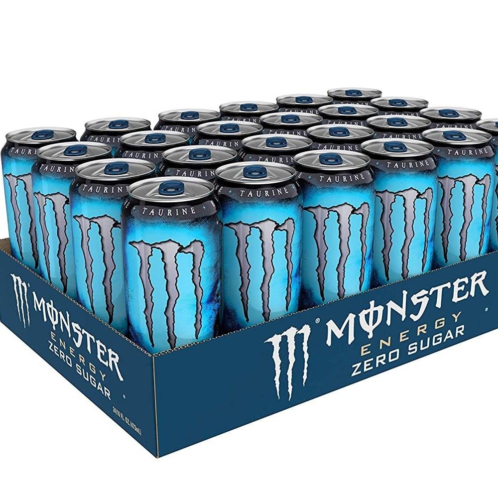 [르담] Monster Energy 무설탕 저칼로리 에너지 드링크 (Pack of 24), 1box