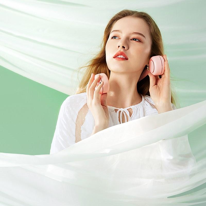 GUZI 심플한 휴대용 웨어러블 선풍기11-150, 핑크