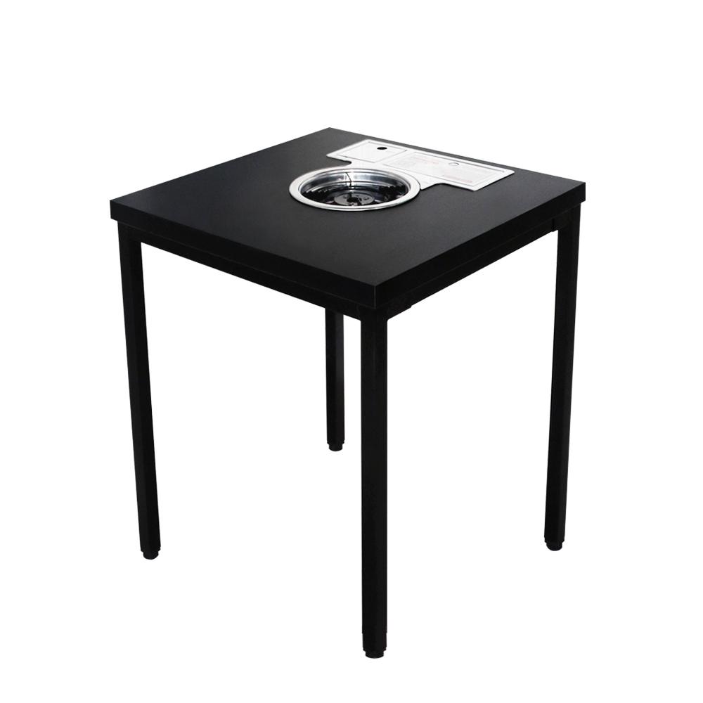 늘가구 미니불판식탁 입식테이블 2인용탁자 불판테이블 집에서 놀기, 입식-블랙