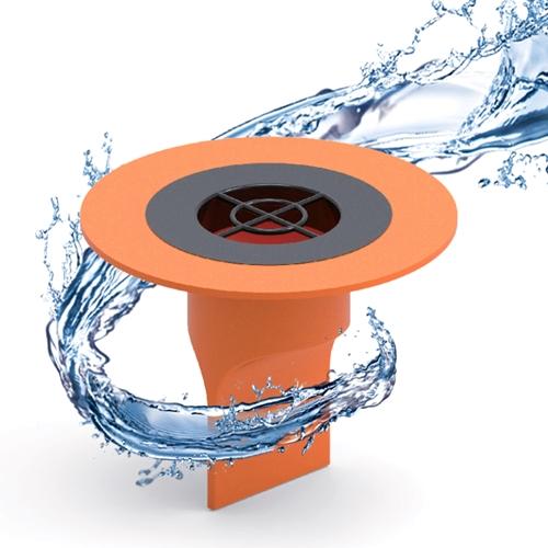 욕실 하수구 배수구 트랩 덮개 악취 냄새 벌레 차단 제거 역류 방지 마개, 오렌지