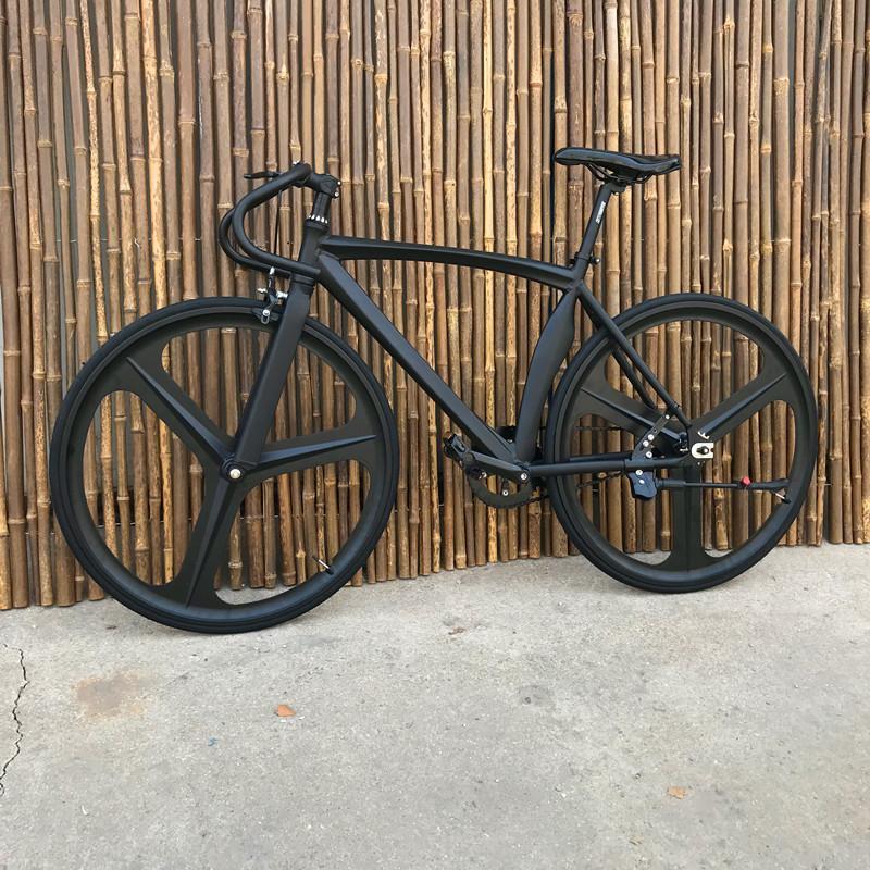 로드자전거 근육 죽은 플라이 자전거 학생 남성과 여성 알루미늄 합금 뒤로 봄, NONE, 5. 색상 분류: 검은 색 전면 및 후면 3 개의 블레이드 전면 브레이크를 보냅니다.