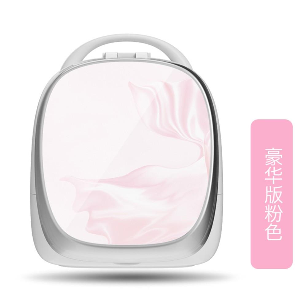 휴대용 스마트 화장대 화장품정리대 홈 탁상시계, 럭셔리 핑크개