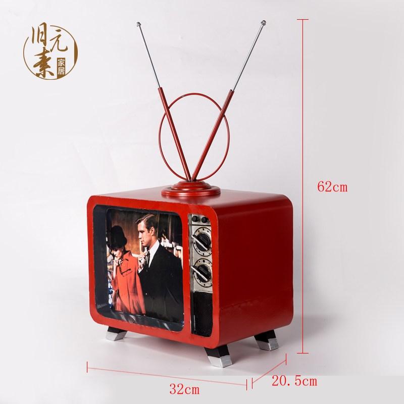 인테리어 소품 키덜트 미니 빈티지 소형 레트로 TV, 레드안테나 (POP 2289775085)