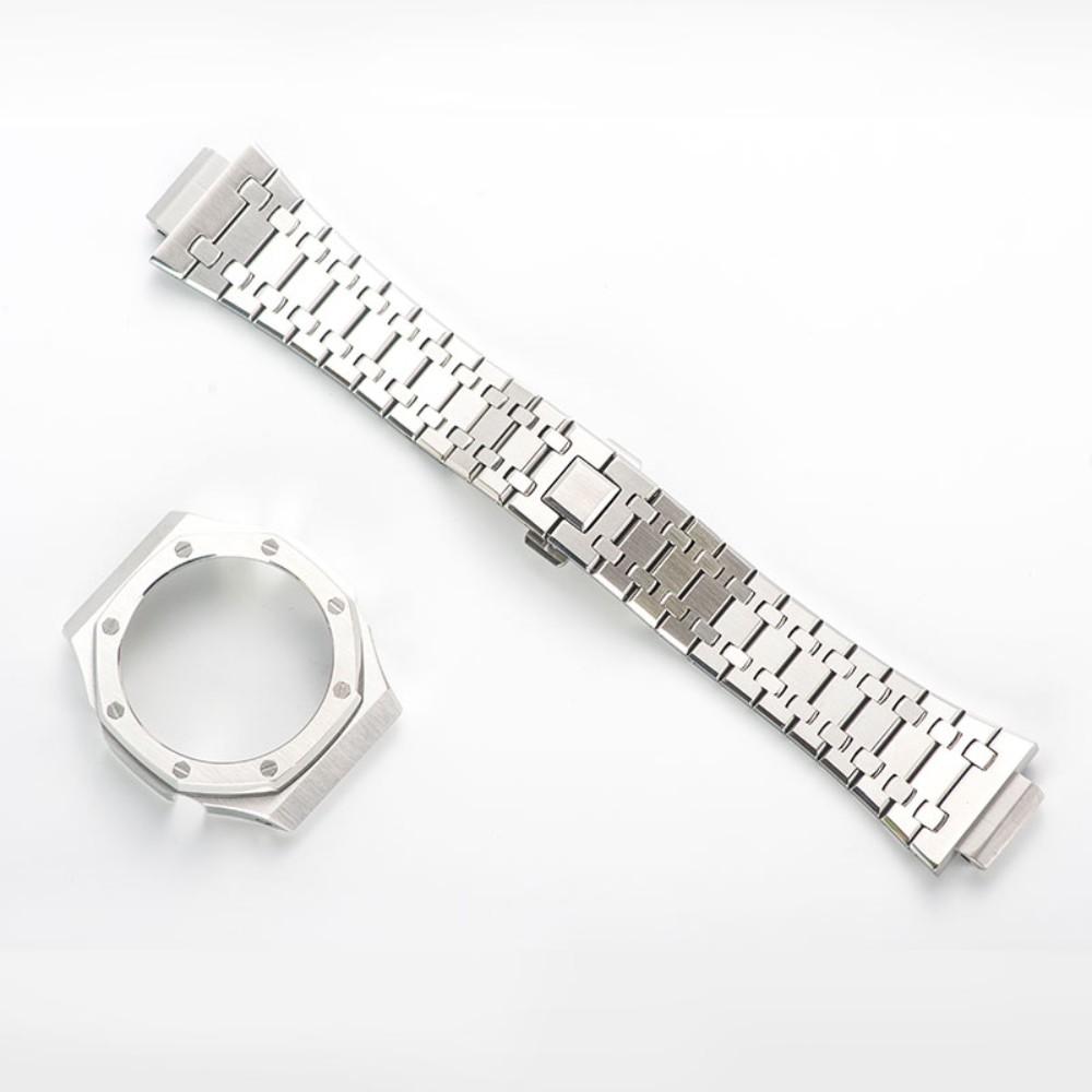 지샥 GA-2100 지얄오크 일체형 메탈 커스텀 베젤 스트랩 시계줄 교체