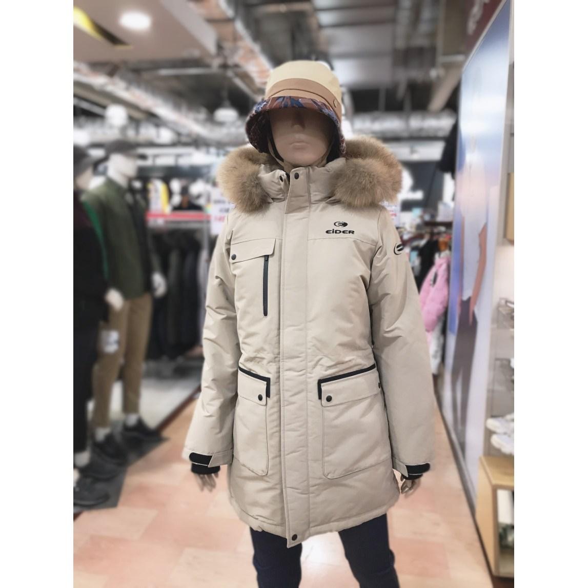 아이더당일발송 초특가 BEST인기캐주얼형 하프기장 면터치느낌 카라스 여성 다운 자켓 DWW17564