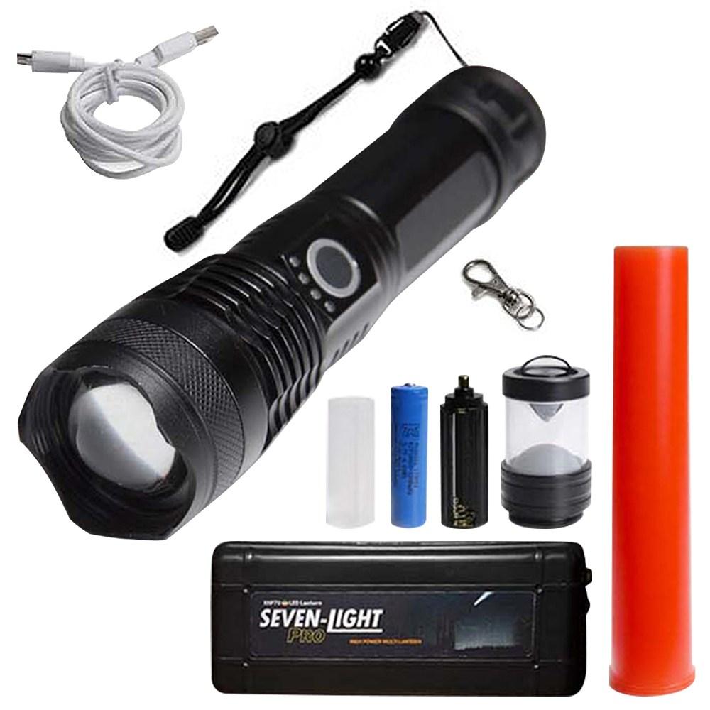 세븐라이트 프로 충전형 LED 손전등, 1세트-7-5226597630