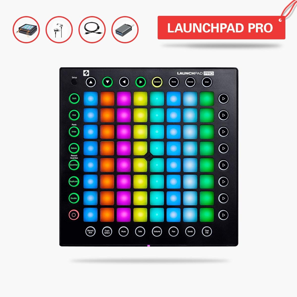 런치패드 LAUNCHPAD RGB PRO DJ전음 충격 초보자 MIDI키보드 제어기, T03-MINI(오리지널포장 패키지+OTG)(3종색상 불빛)