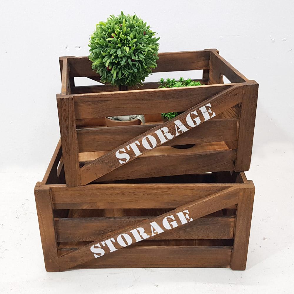 한소픈 스토리지 앤틱 우드박스 (대) 수납함 나무상자 사과박스 정리용품 공간박스 빈티지 와인박스, 1개