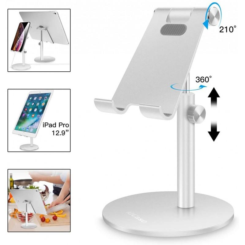 조정 가능한 정제 / 전화 대 AICase 망원경 조정 가능한 iPad 대 홀더 iPhone 똑똑한 셀룰라 전화 / 태블릿 / iPad (4-13 인