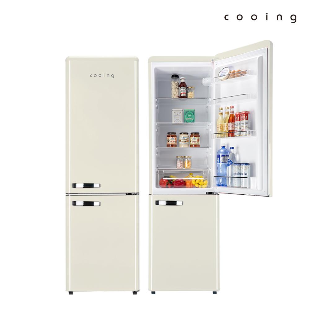 쿠잉 레트로 냉장고 REF-C270C 251L 콤비/소형/투도어, 단품