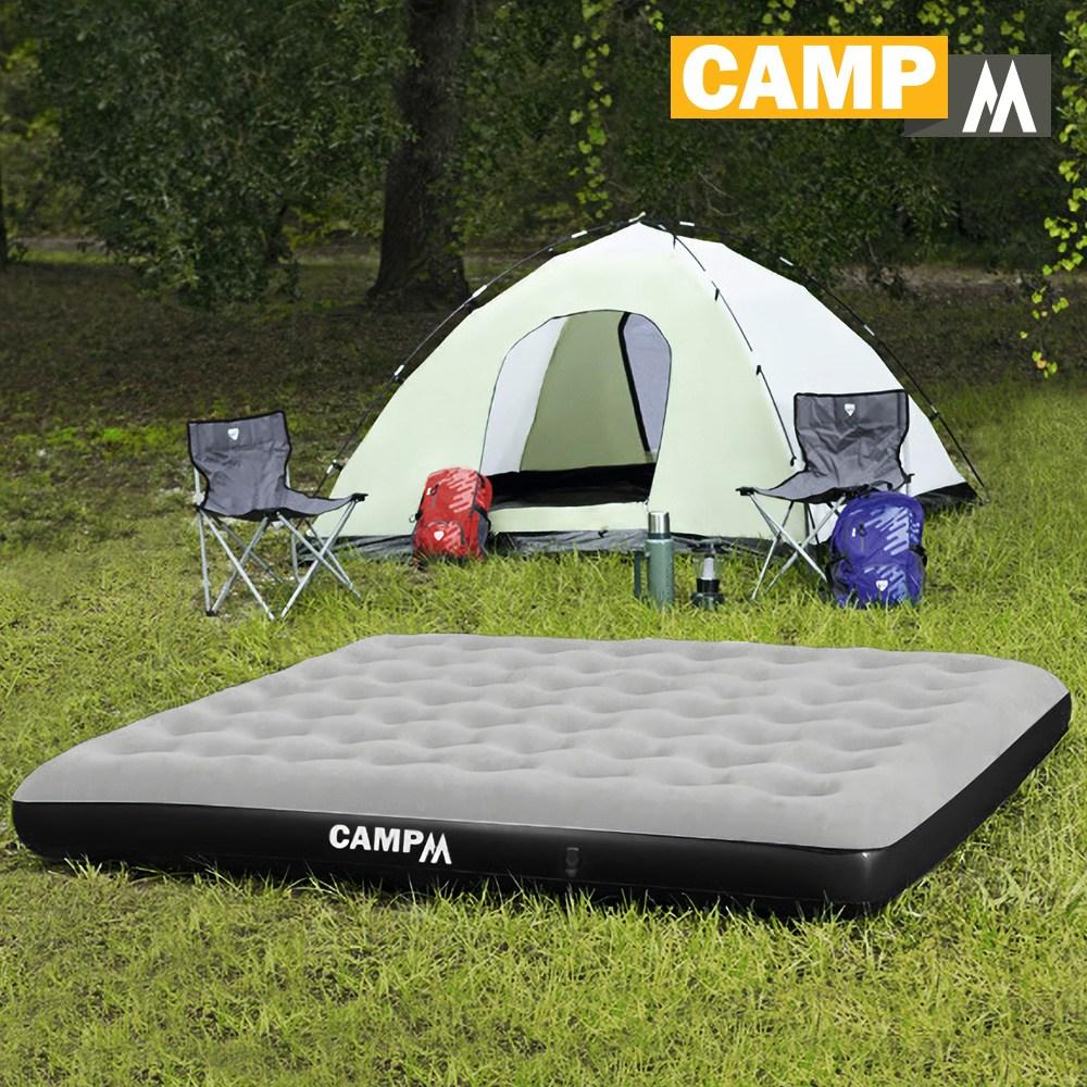 캠프엠 캠핑 에어매트 매트리스 차량 에어 베드 침대 텐트 두꺼운 매트 용품 3 4 인용 킹 사이즈, 199*190*23 에어매트 킹