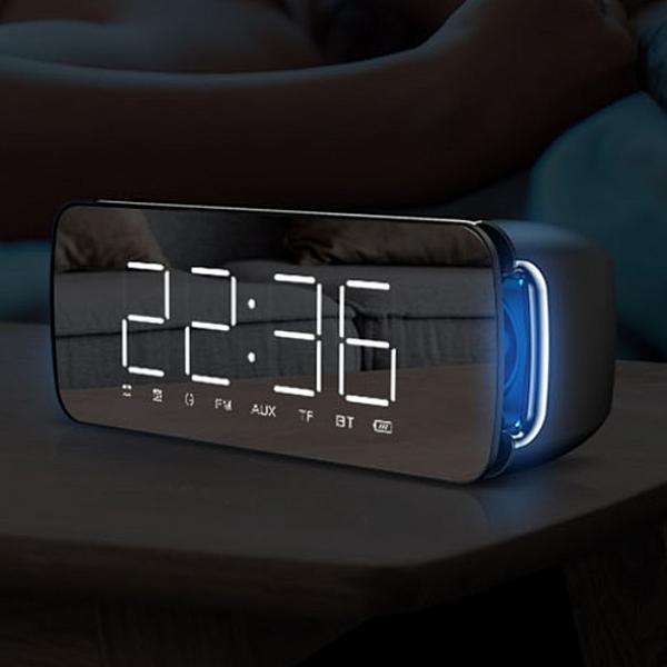 제이에스컴퍼니 캔스톤 LED 블루투스 스피커 블랙 FM라디오