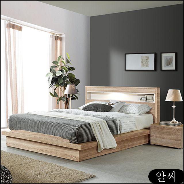 MISOGA 라인 LED조명 평상형 퀸침대 조명침대 침대프레임 퀸침대세트 qfsu, RCMK 본상품선택