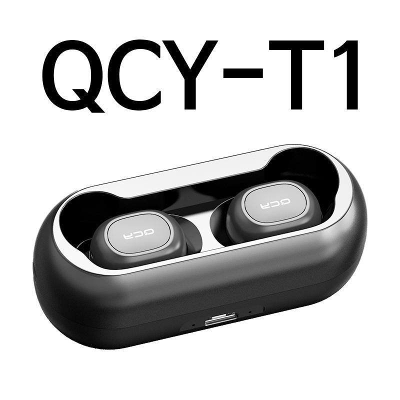 QCY T5 T3 T2S T1 대륙의실수 무선 블루투스 이어폰, 단품, 06_QCYT1블랙