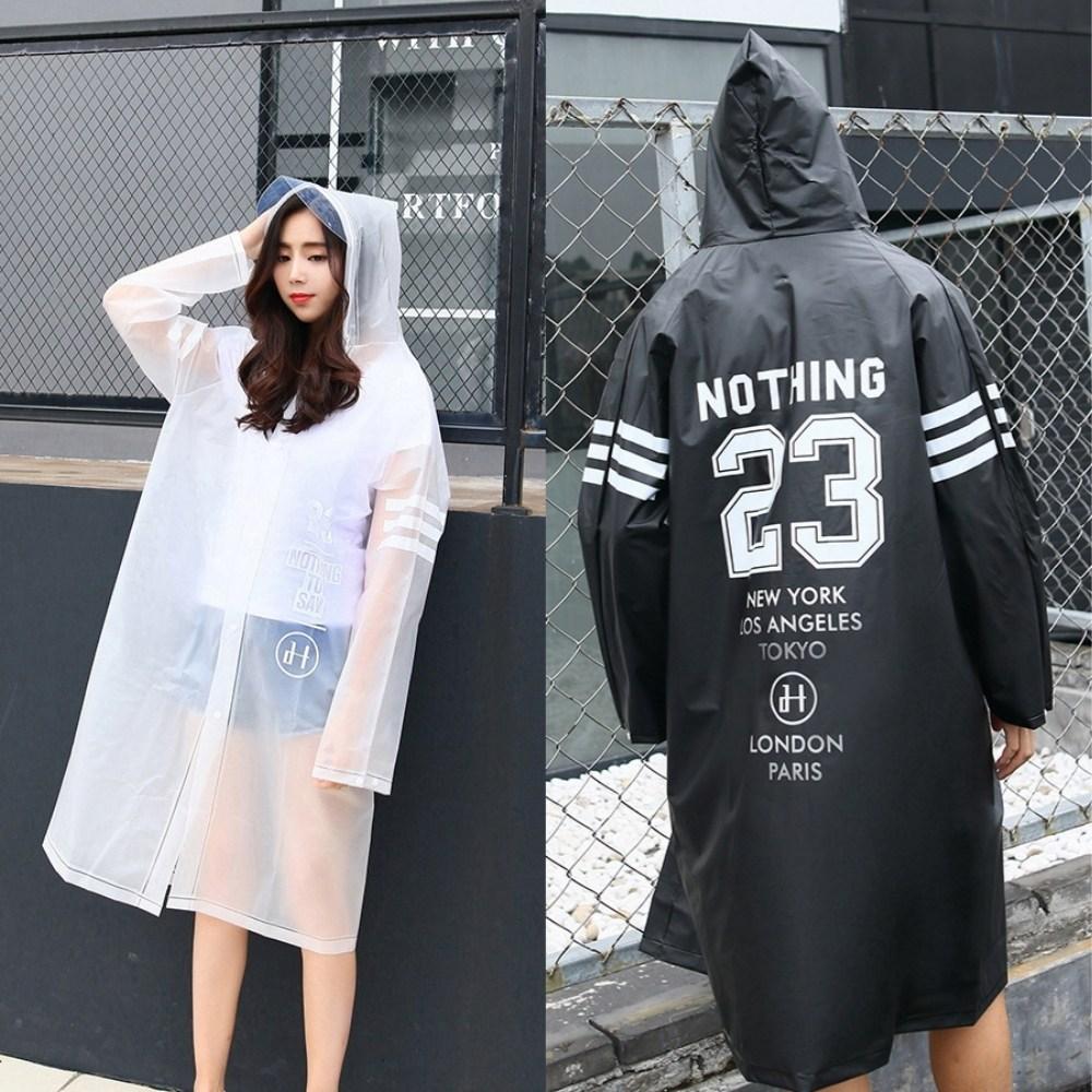 이엔아이] 레인코트 우비 우의 비옷 커플룩 남녀공용 패션 EVA