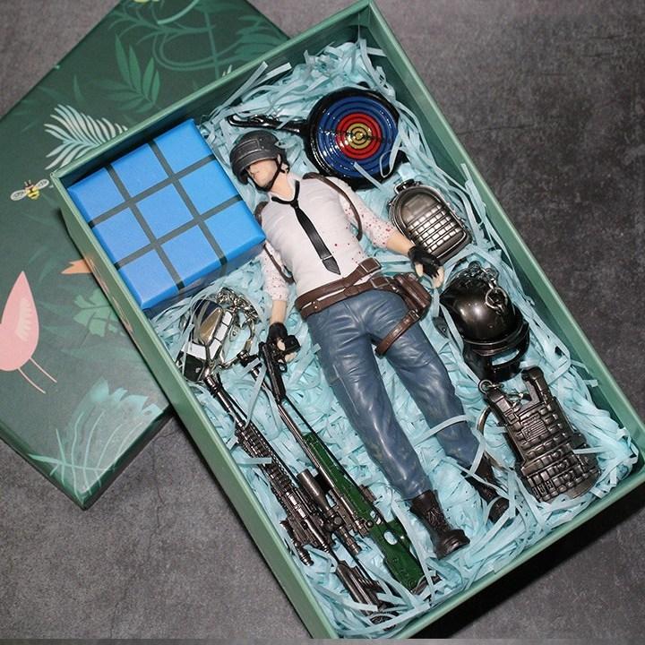 월드홀릭 PUBG 배틀그라운드 피규어 19cm 배그 장식 수집 취미용 인형ySB01, 남자버전