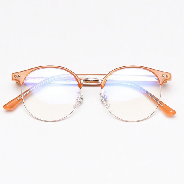 스타일호른 남자 여자 동그란 투명 하금테 안경 블루라이트 차단 렌즈 98317