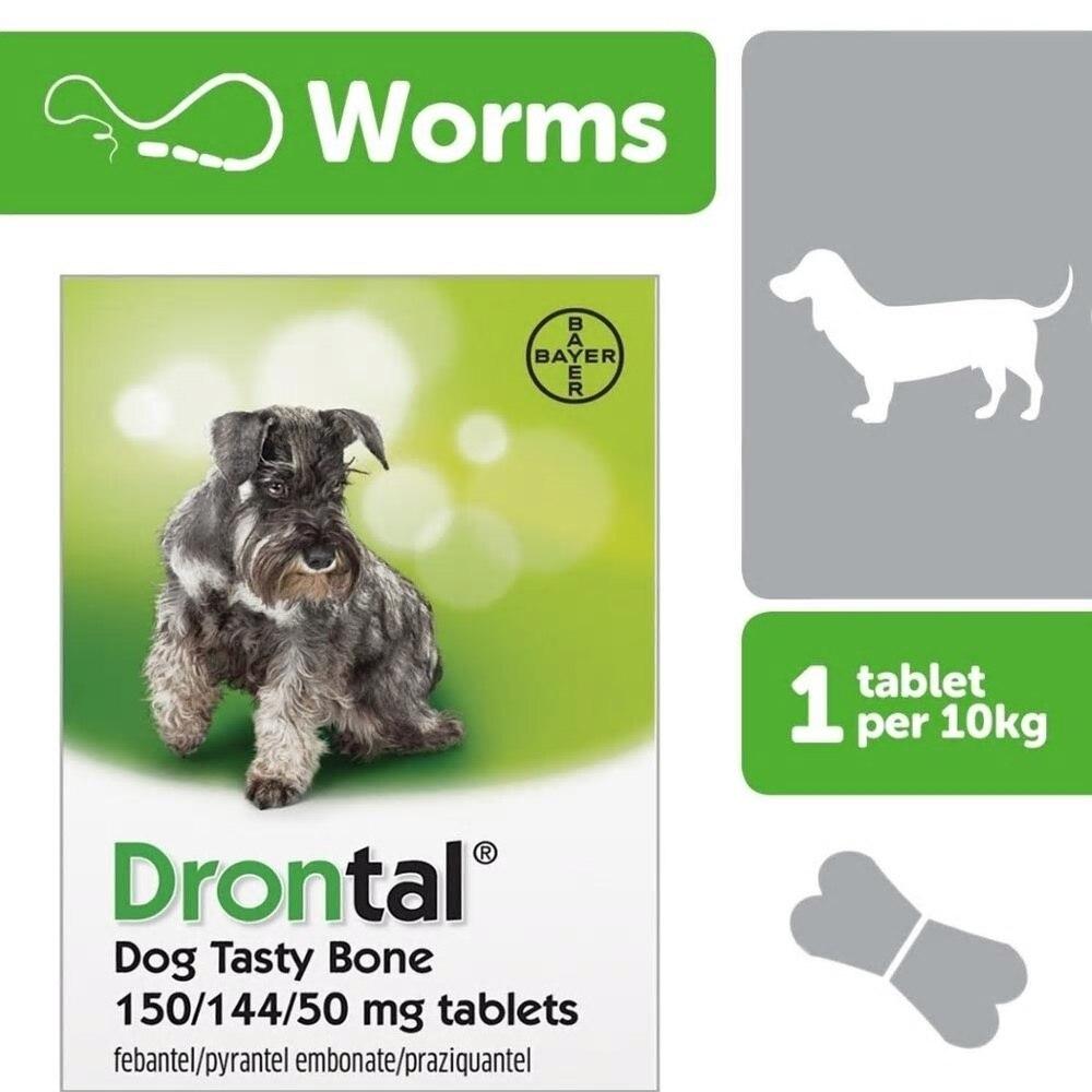바이엘 Drontal 각 태블릿 효과적인 10. Pinworm Hookworm Whipworm 촌충 및 Giardia (원인 만성 설사