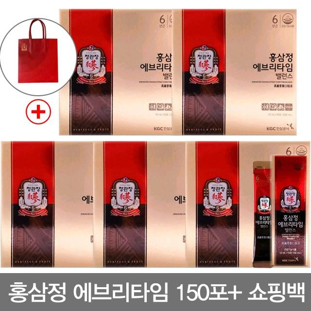 [정관장]홍삼정 에브리타임 밸런스 30포/4+1박스 총5박스, 상세설명 참조, 없음