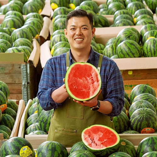 [수토마켓] 산지직송 고당도 달콤한 유명산지 하우스수박 4-9kg, 4kg