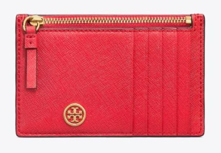 토리버치 [Tory Burch] ROBINSON SLIM CARD CASE 50211 Brilliant Red