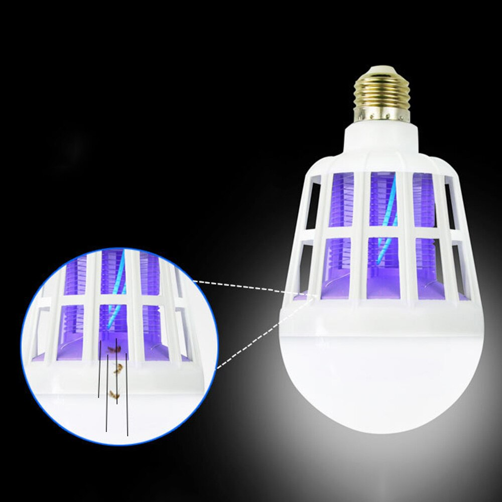 15 w 220 v led 모기 킬러 전구 버그 트랩 램프 곤충 안티 모기 repeller 야간 조명 모기 킬러 야간 램프, 1개, 단일