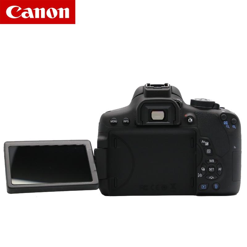 캐논 750 싱글 DSLR 카메라 입문 여행용 휴대용, 검정_공식 표준