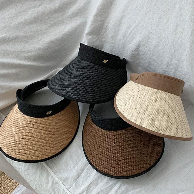 이코마켓 국내제작 라탄 여성 썬캡 라피아 밀짚 남자 여자 선캡