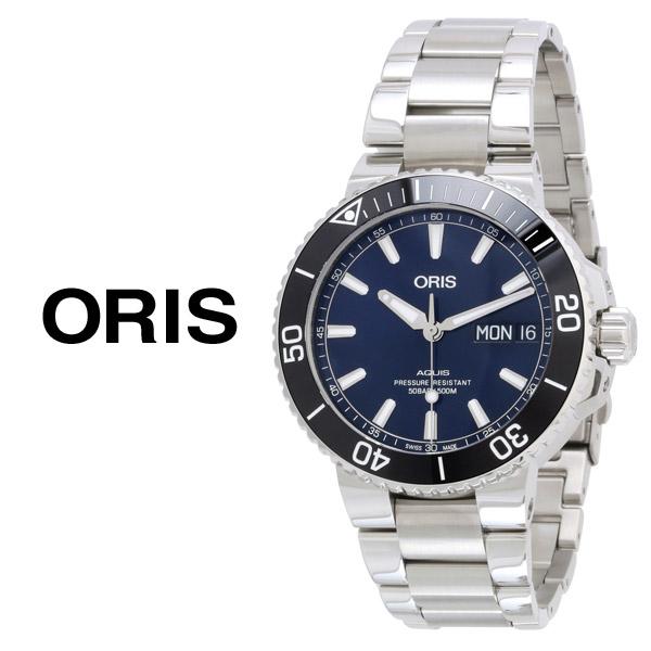 ORIS 오리스 신형 애커스 딥블루 메탈시계 752 7733 4135M