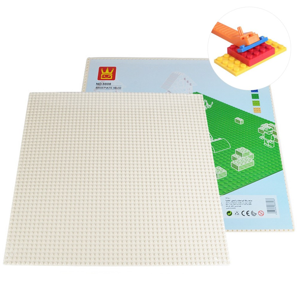 토이다락방 레고판 레고 클래식 호환 대형 놀이판 50x50칸(40x40cm) 레고호환블록, 흰색+레고분해기