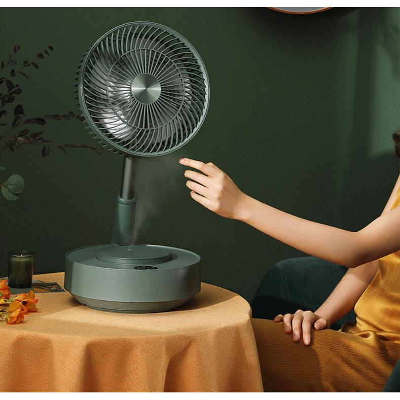 샤오미 접이식 EDON 가정용 가습기 겸용 미니 선풍기, 그린 (POP 1948370102)