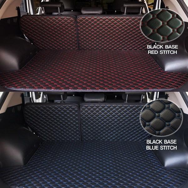 방수 트렁크매트 QM3 QM5 QM6 가죽 풀세트, 블랙원단 레드스티치