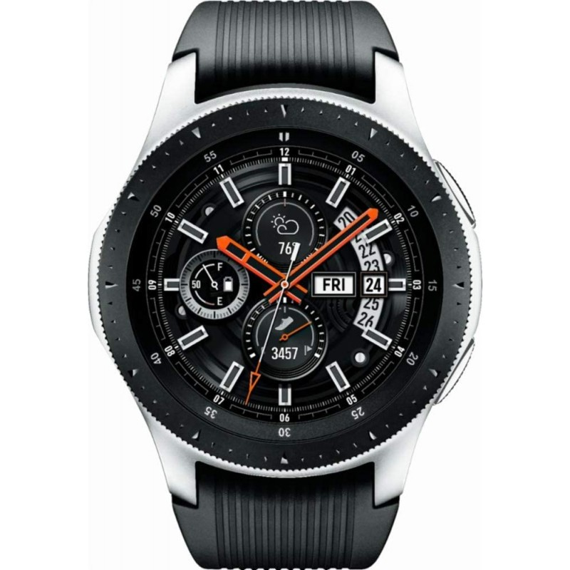Samsung SM-R805UZSAXAR Galaxy Watch Smartwatch 46mm 스테인레스 스틸 LTE GSM (잠금 해제) 실버 (갱신), 단일옵션, 단일옵션