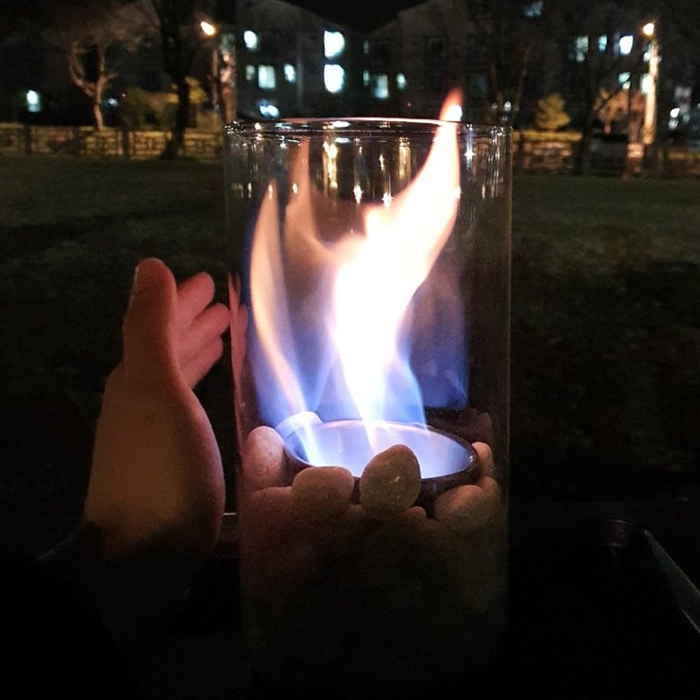 효코퍼레이션 불멍 에탄올 난로 경수진 손담비 나혼자산다 유리 세트 불멍에탄올, 1세트, 1.2리터 화이트