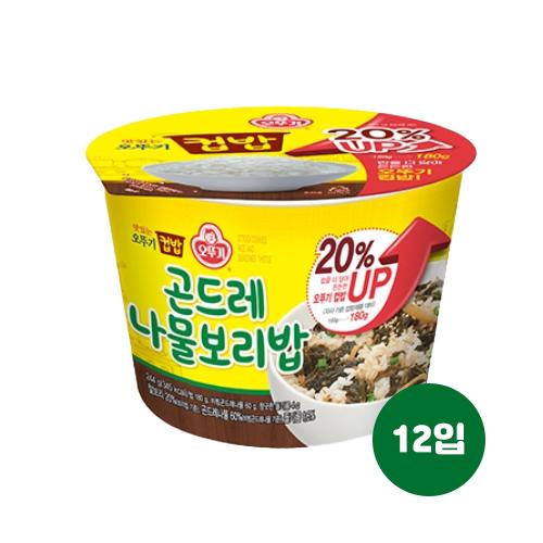 오뚜기 컵밥 곤드레나물보리밥 244g(증량!) 12입, 12개, 244g