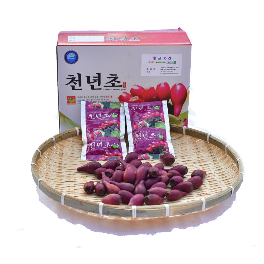 손바닥 선인장 천년초 열매 진액, 60팩, 100ml