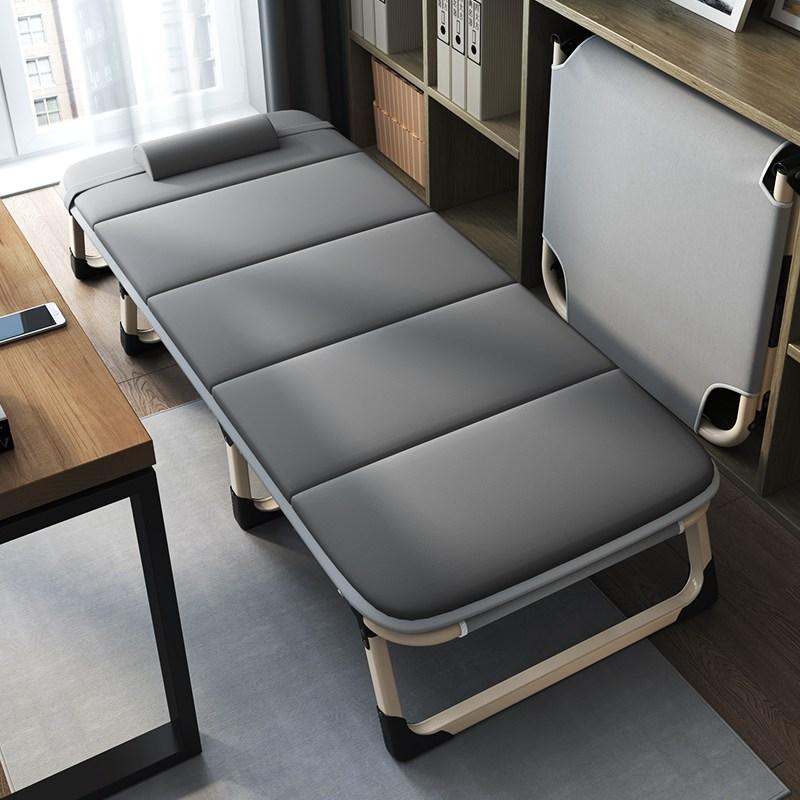 블라썸 침대 침대의자 가정용 점심휴식 안락의자 발코니, 럭셔리와이드보강(그레이)+4D배기면패드