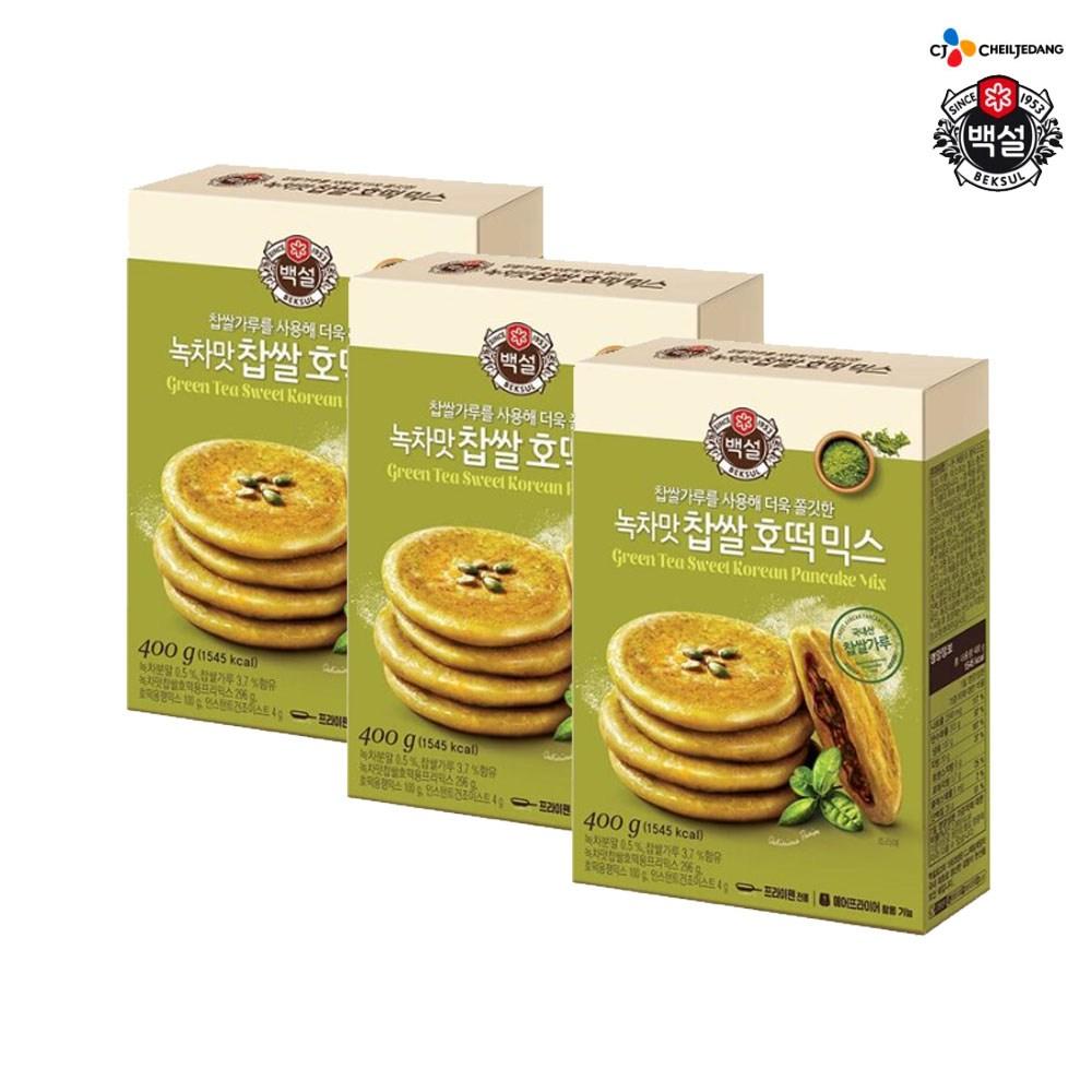 (상온)백설 녹차맛 찹쌀호떡믹스400gx3개, 1세트