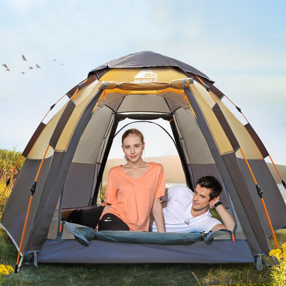 캠핑클럽 T2 4인용 원터치텐트 패스트 캠핑 캠프 자동 대형텐트, 1244960