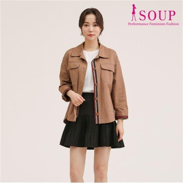 SOUP 요크 라인 트리밍 싱글 재킷 SU8UJ81