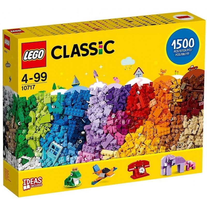 레고 클래식 브릭 세트-10717   1500 조각   4-99 세   플라스틱   건물 복잡성의 3 단계   편리한 벽돌 분리기, 단일옵션