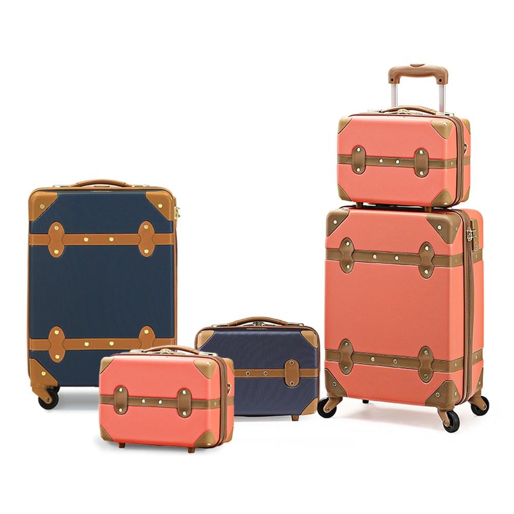 비박 빈티지 여행용 캐리어 세트(9+18인치) 여행가방 기내용캐리어