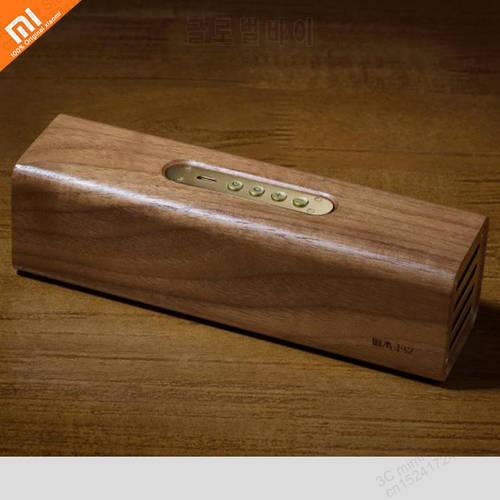 원래 xiaomi mijia 구리 woodism 블루투스 스피커 블랙 호두 나무 2 채널, 상세내용참조