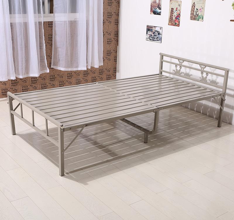 접이식침대 보강한 싱글 더블침대 두꺼운판 스틸침대 오후휴식 1미터 1.2미터 90넓이침대 75 80두께강화, T11-두께강화 두꺼운 스틸침대 1.2미터너비